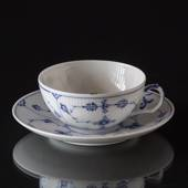 Musselmalet Gerippt, Teetasse, Inhalt 18cl., Royal Copenhagen