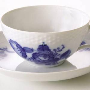 Blaue Blume, glatt, Teetasse, Royal Copenhagen