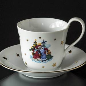 1988 Jingle Bells, Tasse mit Untertasse Royal Copenhagen