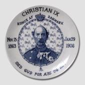 Gedenkteller, Christian IX, 1863-1906, Furnivals