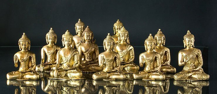 Buddha Figuren Messing